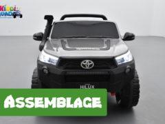 comment monter un véhicule électrique pour enfant de type Toyota Hilux 24 Volts ?